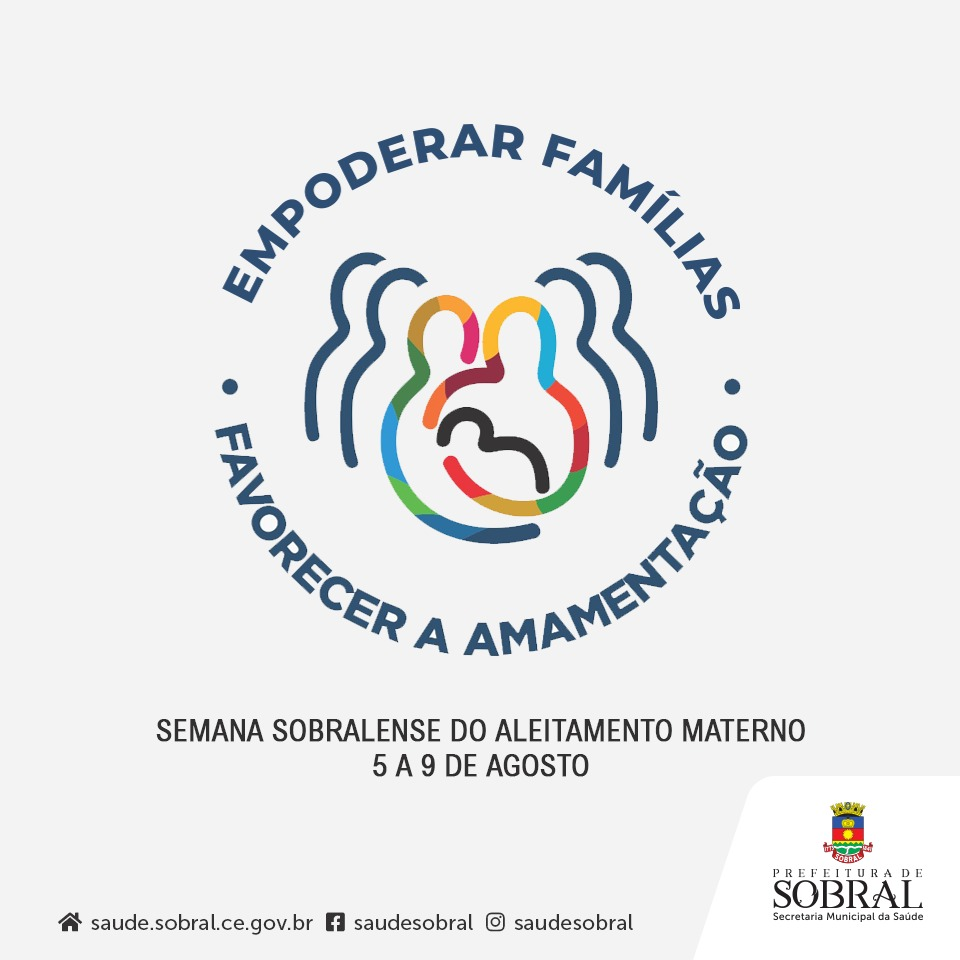 Resultado de imagem para Prefeitura realiza Semana Sobralense do Aleitamento Materno de 5 a 10 de agosto